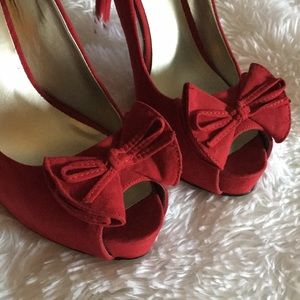 Guess Shoes - Red Guess peep toe heels